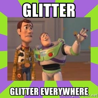 X, X Everywhere  - glitter glitter everywhere