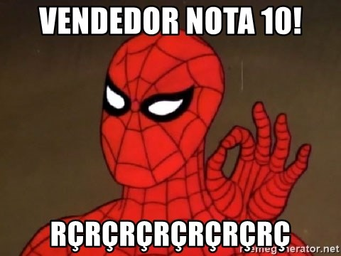 Spiderman Approves - vendedor nota 10! rçrçrçrçrçrçrç