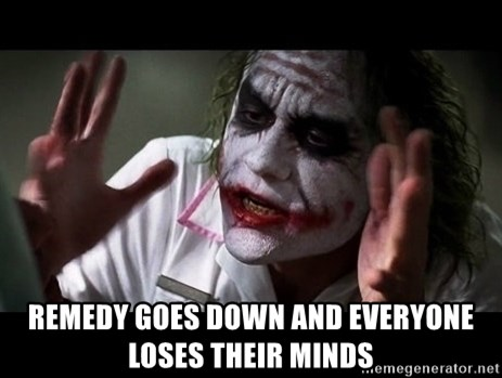 joker mind loss -  remedy goes down and everyone loses their minds