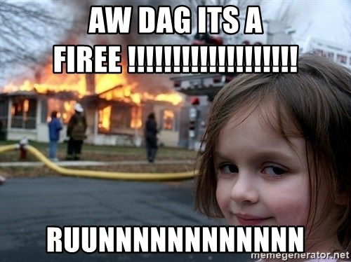 Disaster Girl - aw dag its a firee !!!!!!!!!!!!!!!!!!! ruunnnnnnnnnnnn