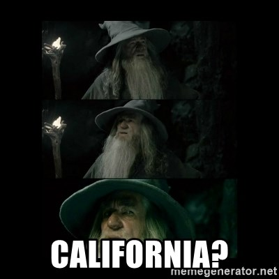 Confused Gandalf -  California?