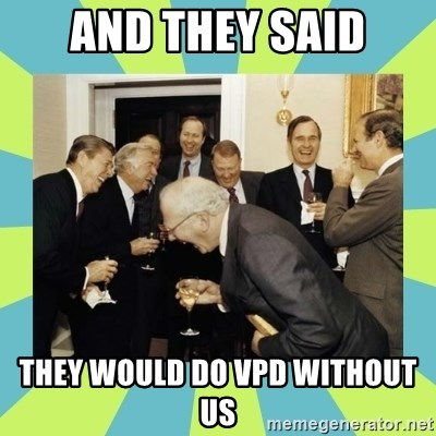 reagan white house laughing - AND THEY SAID THEY WOULD DO VPD WITHOUT US