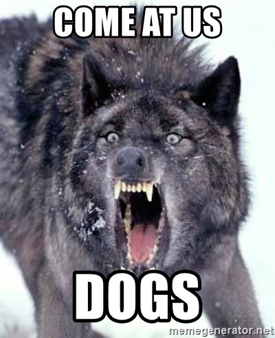 Angry Ass Wolf - come at us dogs
