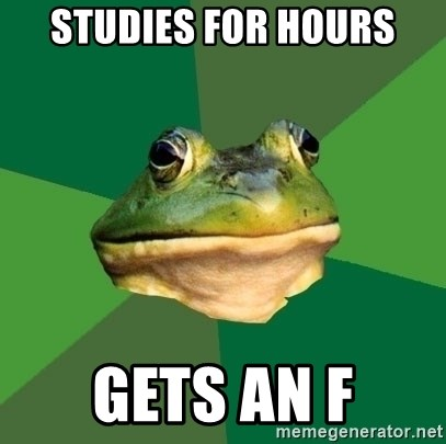 Foul Bachelor Frog - Studies for hours gets an f
