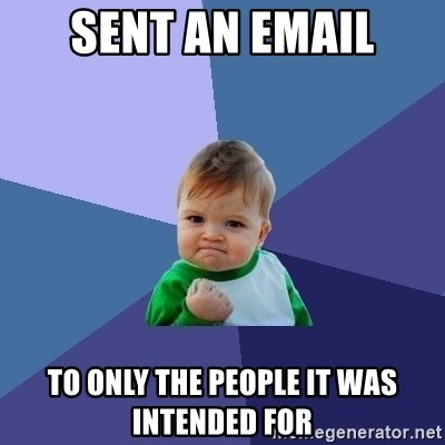 Success Kid - Sent an email to only the people it was intended for