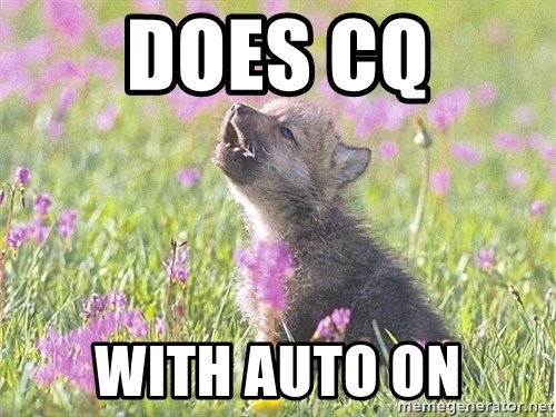 Baby Insanity Wolf - does cq with auto on