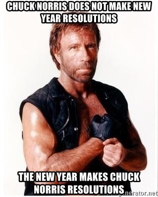 Chuck Norris Meme - Chuck Norris does not make new year resolutions the new year makes chuck norris resolutions