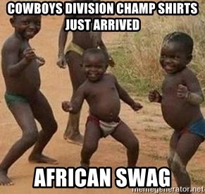 african children dancing - cowboys division champ shirts just arrived african swag