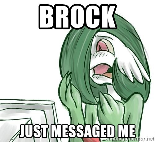 Pokemon Reaction - Brock just messaged me
