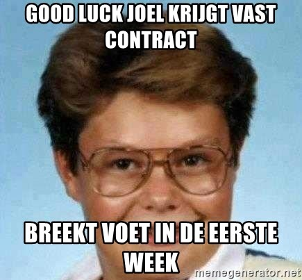 good luck larry hd - Good luck joel krijgt vast contract breekt voet in de eerste week