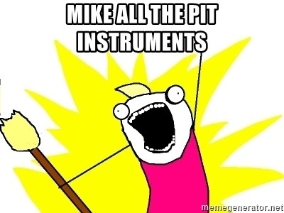 X ALL THE THINGS - mike all the pit instruments