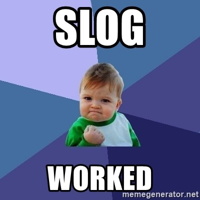 Success Kid - SLOG WORKED
