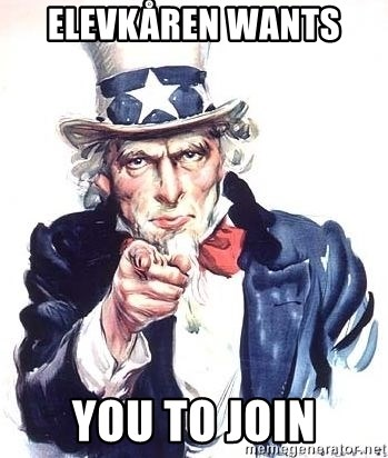 Uncle Sam - elevkåren wants  you to join
