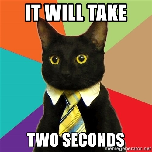 Business Cat - it will take  two seconds