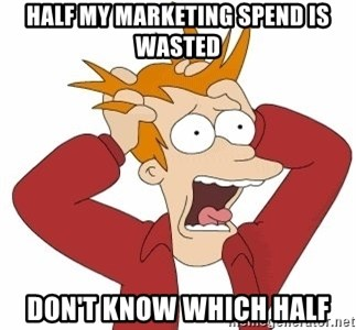Fry Panic - half my marketing spend is wasted don't know which half