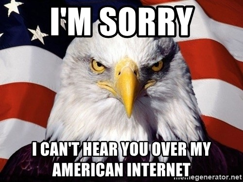 American Pride Eagle - i'M SORRY i CAN'T HEAR YOU OVER MY AMERICAN INTERNET
