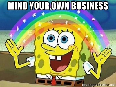 Imagination - mind your own business