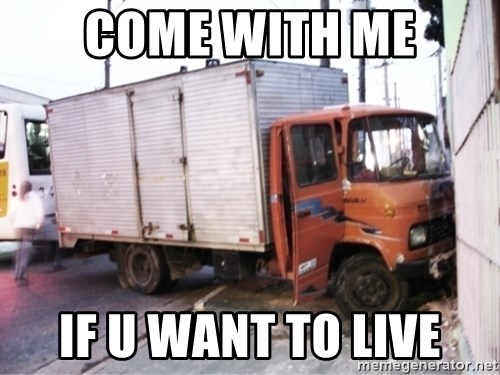 Yeezus Truck - come with me if u want to live