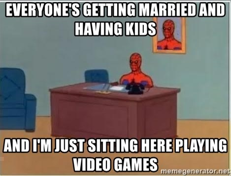 Spiderman Desk - Everyone's getting married and having kids and i'm just sitting here playing video games