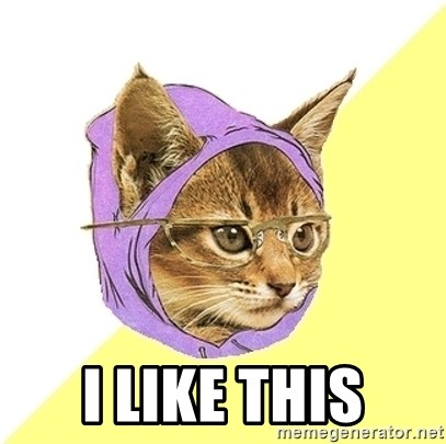 Hipster Kitty -  i like this