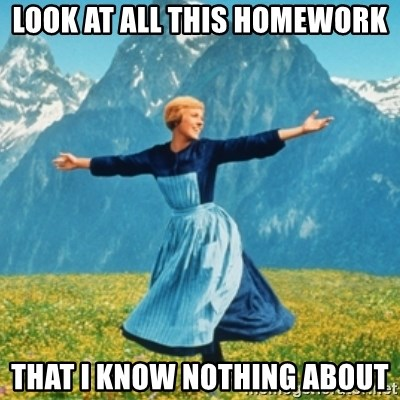 Sound Of Music Lady - Look at all this homework that I know nothing about