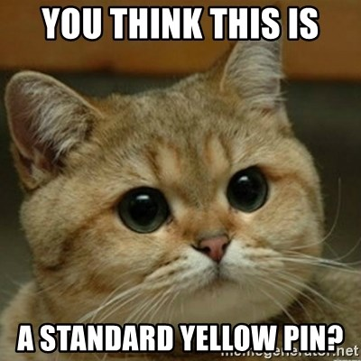 Do you think this is a motherfucking game? - You think this is A standard yellow pin?