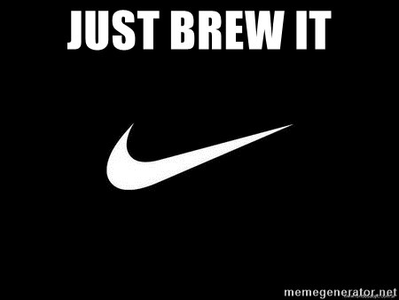 Nike swoosh - Just BREW IT