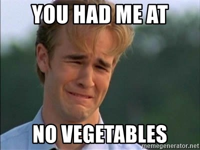 James Van Der Beek - You HAD ME AT NO VEGETABLES