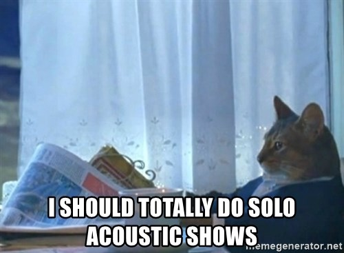 Sophisticated Cat -  i should totally do solo acoustic shows