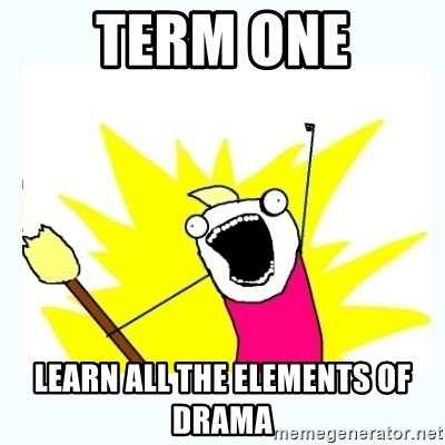 All the things - term one learn all the elements of drama