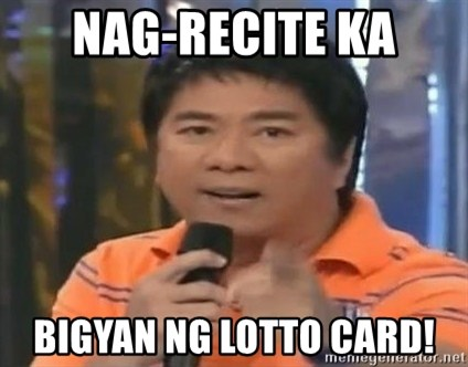 willie revillame you dont do that to me - NAG-RECITE KA BIGYAN NG LOTTO CARD!