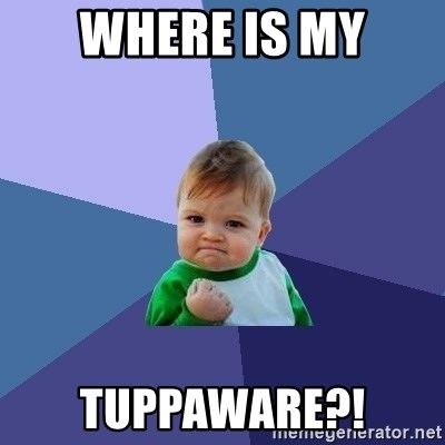 Success Kid - where is my tuppaware?!