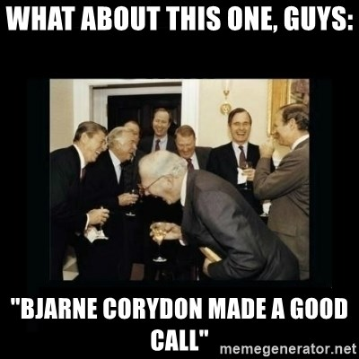 """Rich Men Laughing - What about this one, guys: """"Bjarne Corydon made a good call"""""""
