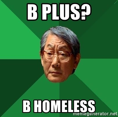 High Expectations Asian Father - b plus? b homeless