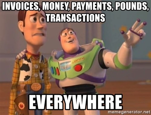 Tseverywhere - invoices, money, payments, pounds, transactions everywhere