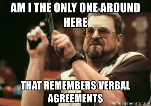 Walter Sobchak with gun - AM I THE only one around here that remembers verbal agreements
