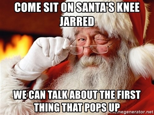 Capitalist Santa - Come sit on santa's knee jarred we can talk about the first thing that pops up