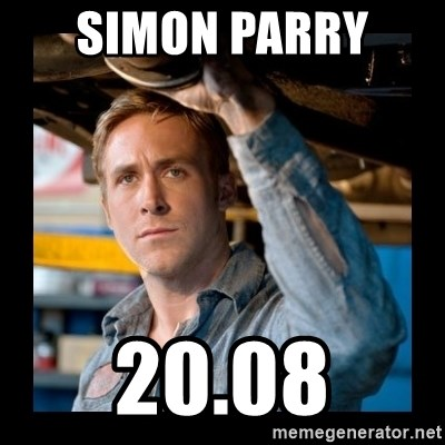Confused Ryan Gosling - SIMON PARRY  20.08
