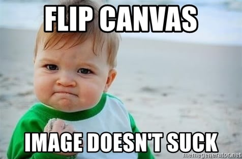 fist pump baby - Flip canvas Image doesn't suck