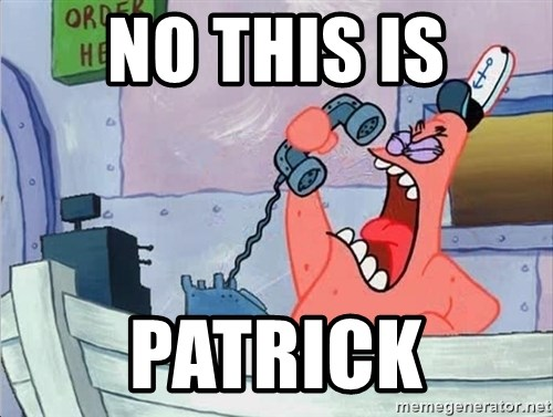 THIS IS PATRICK - no this is patrick