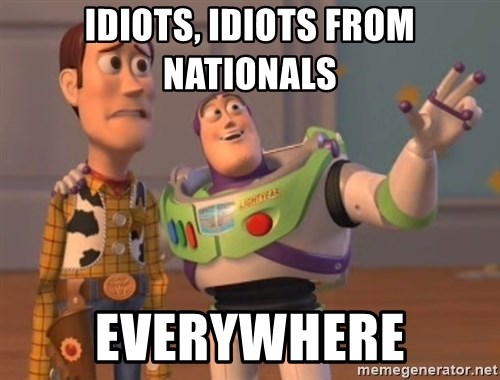 Tseverywhere - idiots, idiots from nationals everywhere