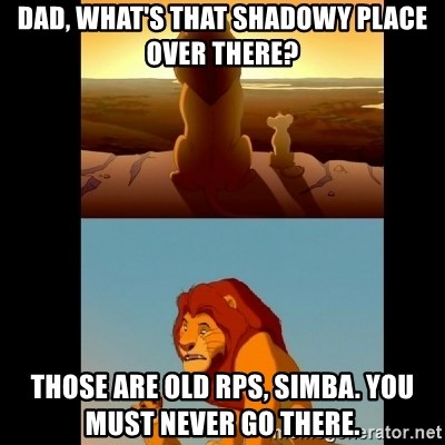 Lion King Shadowy Place - Dad, what's that shadowy place over there? tHose are old rps, simba. you must never go there.