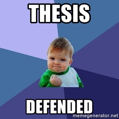 Success Kid - Thesis Defended