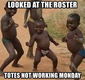 african children dancing - looked at the roster totes not working monday