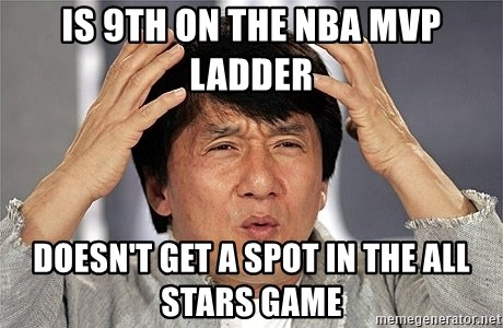 Jackie Chan - is 9th on the nba mvp ladder doesn't get a spot in the all stars game