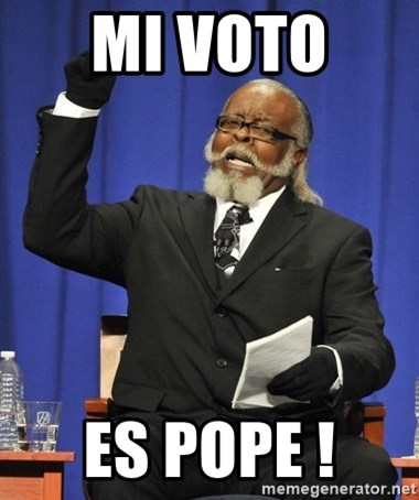 Rent Is Too Damn High - Mi voto  Es Pope !
