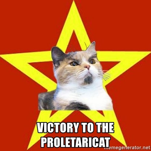 Lenin Cat Red -  Victory to the proletaricat