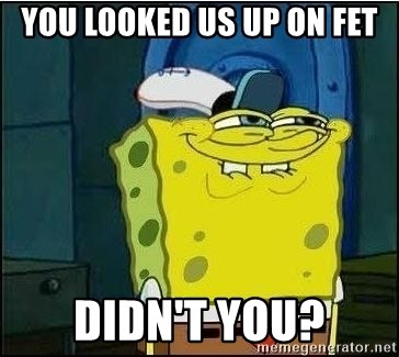 Spongebob Face - You looked us up on fet Didn't you?
