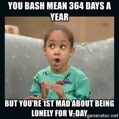 Raven Symone - You bash mean 364 days a year But you're 1st mad about being lonely for V-Day