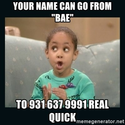 """Raven Symone - your name can go from """"bae"""" to 931 637 9991 real quick"""